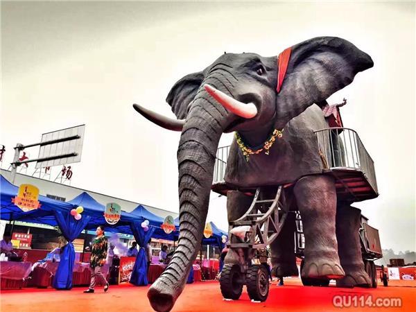 巡游机器大象出租 能发出大象啼声 厂家现货低价租赁大象|机械
